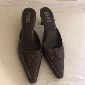 Brown low heel
